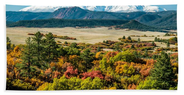 Pikes Peak Over Scrub Oak Beach Towel