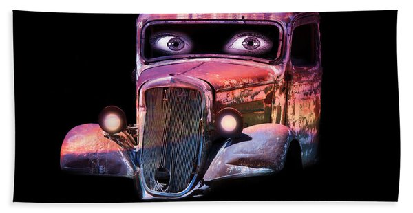 Beach Towel featuring the photograph Pin Up Cars - #3 by Gunter Nezhoda