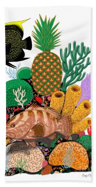 Pineapple Reef Beach Towel