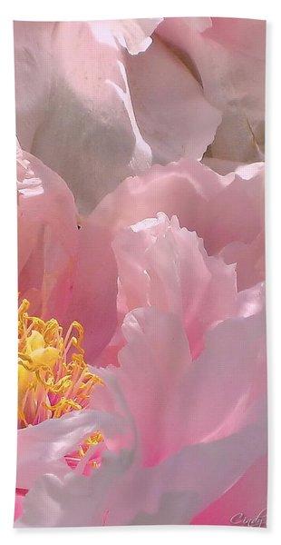 Pink Peonies 2  Beach Towel