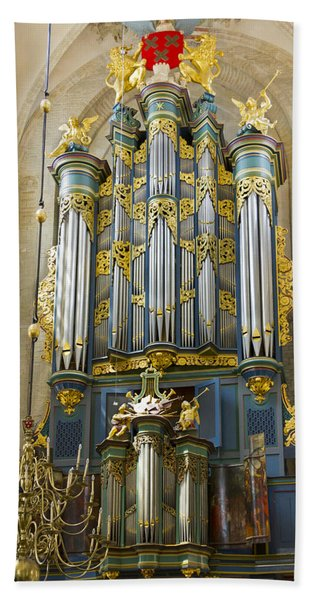 Pipe Organ In Breda Grote Kerk Beach Towel