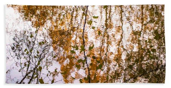 Pond Reflections #3 Beach Sheet