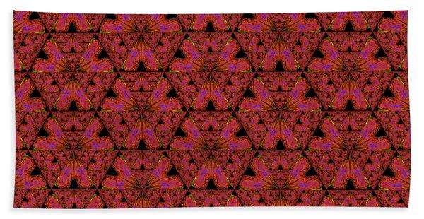 Poppy Sierpinski Triangle Fractal Beach Towel