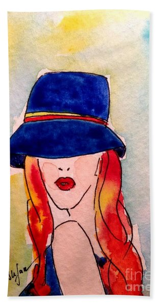 Portrait Of A Woman Beach Towel