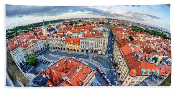 Prague From Above Beach Towel