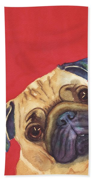 Pug 2 Beach Towel
