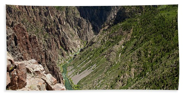 Pulpit Rock Overlook Black Canyon Of The Gunnison Beach Towel