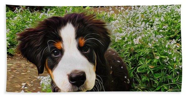 Puppy Art - Little Lily Beach Sheet