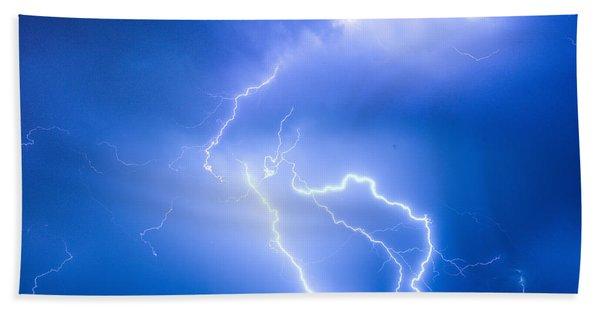 Rabbit Mountain Area Lightning Strikes Boulder County Beach Towel