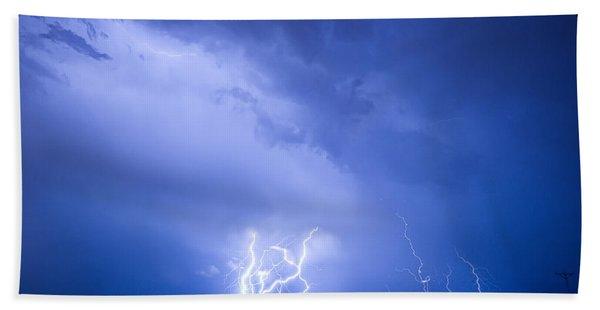 Rabbit Mountain Lightning Strikes Boulder County Co Beach Towel