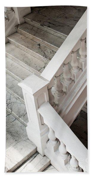 Raffle's Hotel Marble Staircase Beach Towel