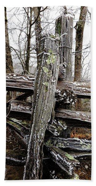 Rail Fence With Ice Beach Sheet