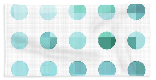 Rainbow Dots Aqua  Beach Towel