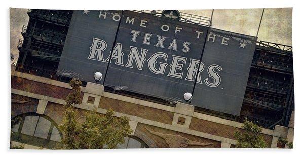 Rangers Ballpark In Arlington Color Beach Towel