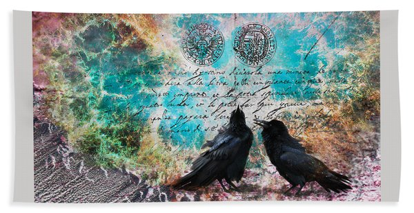 Crow Whispers In The Nowhere Beach Towel