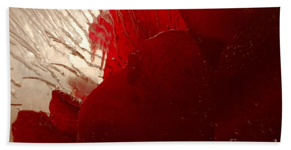 Red Ice Beach Towel