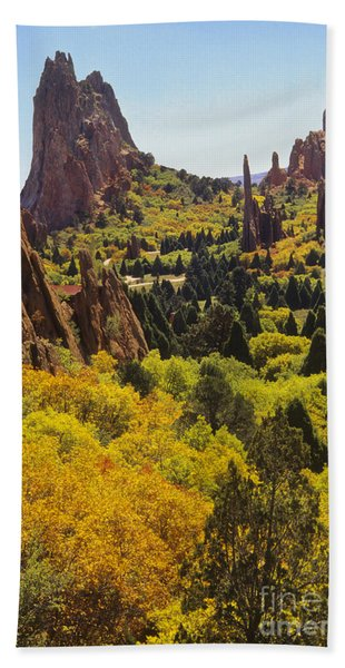 Red Lyons Sandstone Formations Beach Towel