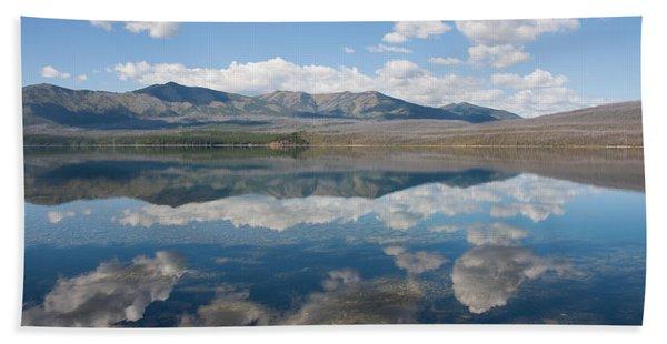Reflections At Glacier National Park Beach Towel