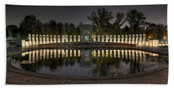 Reflections Of The Atlantic Theater Beach Towel