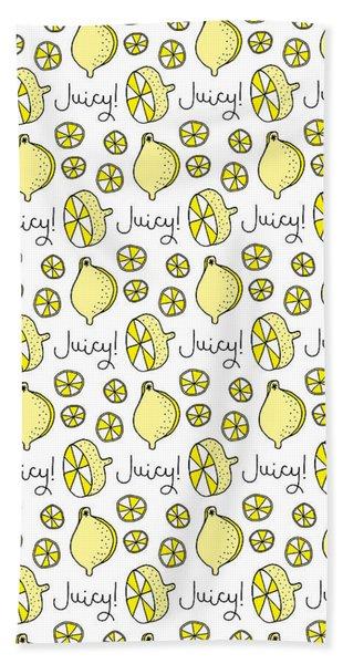 Repeat Prtin - Juicy Lemon Beach Towel