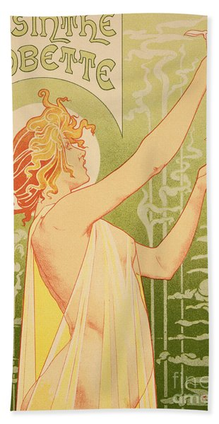 Reproduction Of A Poster Advertising 'robette Absinthe' Beach Towel