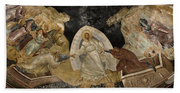 Resurrection Of Adam And Eve Panorama Beach Towel