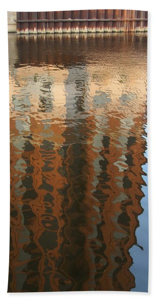 Riverwalk Reflection Beach Towel