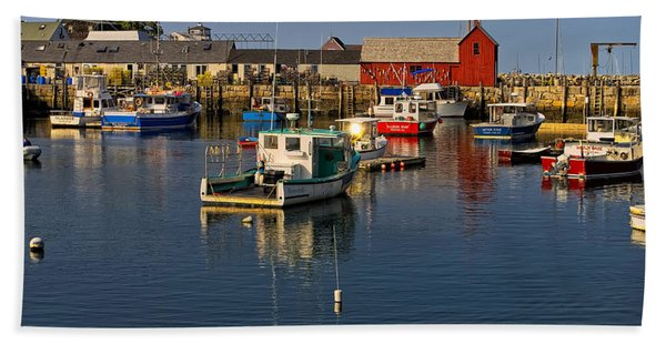 Rockport Harbor No.1 Beach Towel