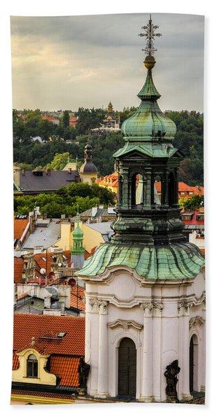 Rooftops Of Prague 1 Beach Towel