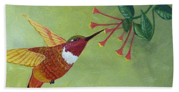 Rufous Hummingbird Beach Towel