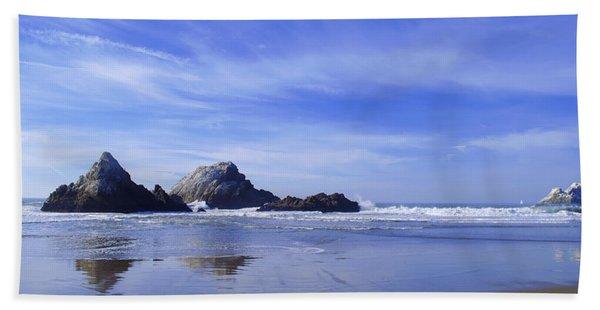 Rugged Reflections Beach Towel