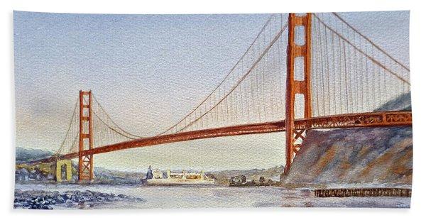 San Francisco California Golden Gate Bridge Beach Sheet