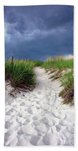 Sand Dune Under Storm Beach Towel