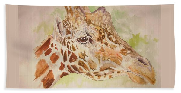 Savanna Giraffe Beach Towel