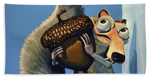 Scrat Of Ice Age Beach Towel
