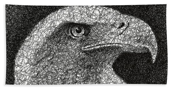 Scribble Eagle Beach Towel