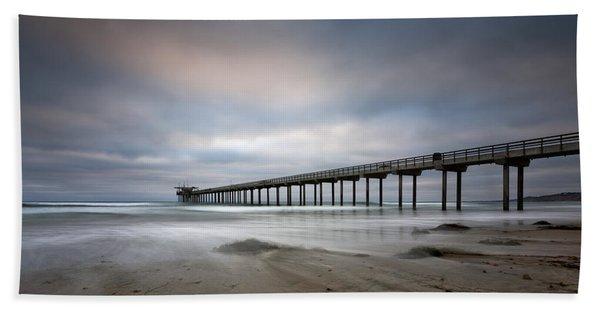 Scripps Pier Wide -lrg Print Beach Towel