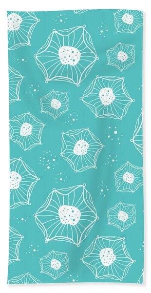 Sea Flower Beach Towel