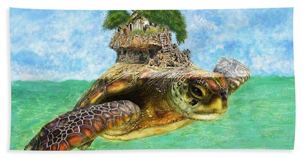 Sea Turtle Island Beach Towel