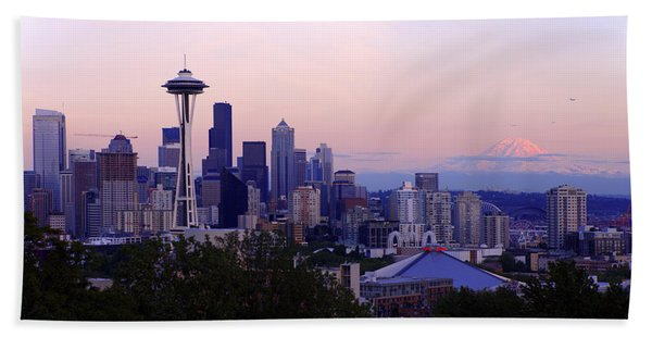 Seattle Dawning Beach Towel