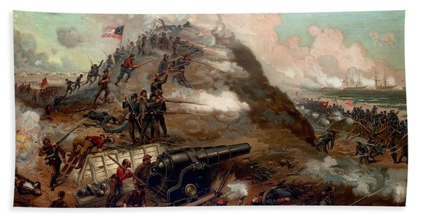 Second Battle Of Fort Fisher Beach Towel