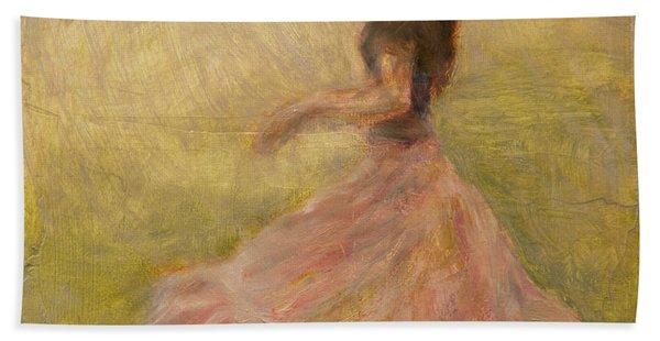 She Dances With The Rain Beach Sheet