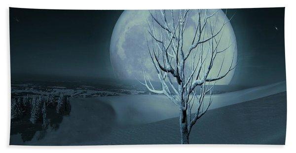 Silent Winter Evening  Beach Sheet