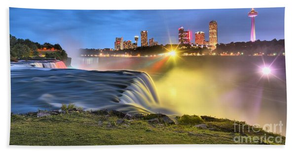 Silky Niagara Falls Panoramic Sunset Beach Towel