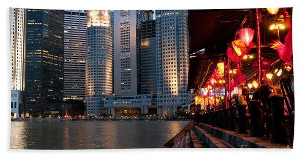 Singapore Boat Quay 02 Beach Towel