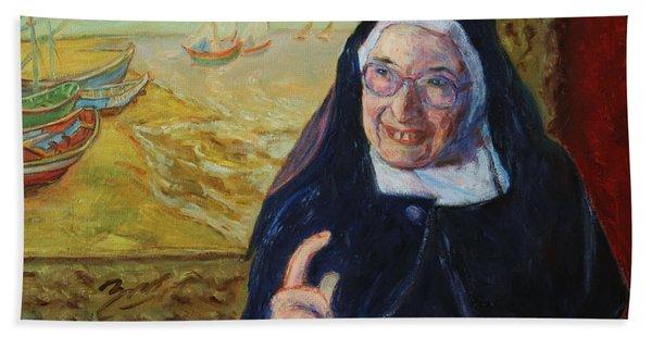 Sister Wendy Beach Towel