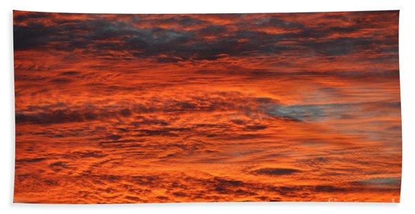 Sky Fire  Beach Towel