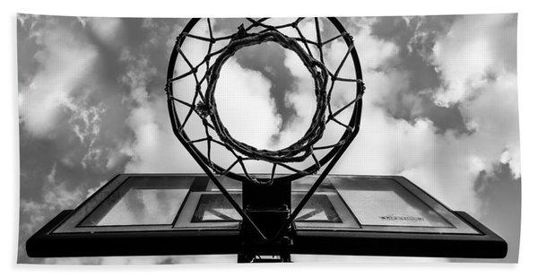 Sky Hoop Basketball Time Beach Sheet