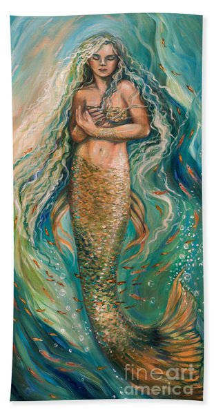 Slumbering Mermaid Beach Towel