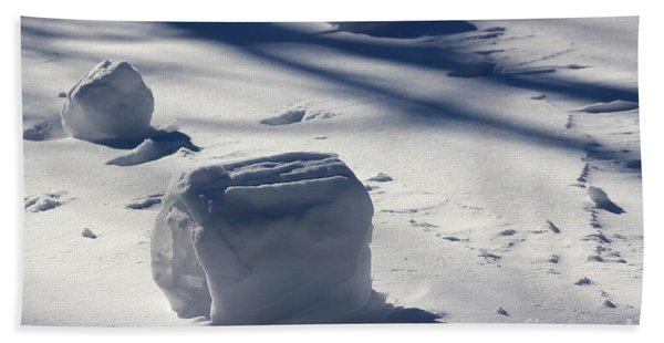Snow Roller Trio In Shadows Beach Towel